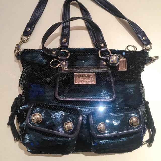 big sale 0687e 61ea5 コーチ スパンコールバッグ 袋付き | フリマアプリ ラクマ