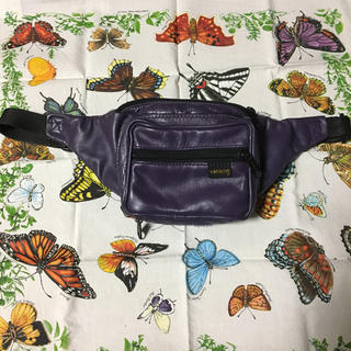 vanson レザーウエストバッグ 紫色
