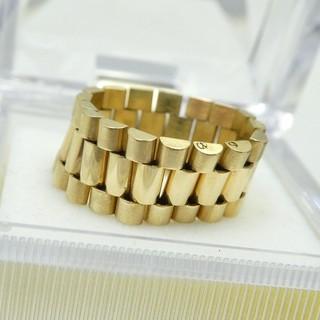 専用です K18  18金 大きいサイズ デザインリング 19号 指輪  (リング(指輪))
