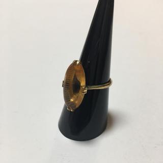 ヴィンテージ 昭和レトロ 指輪  K18 GP 色石 希少品 値下げ.(リング(指輪))