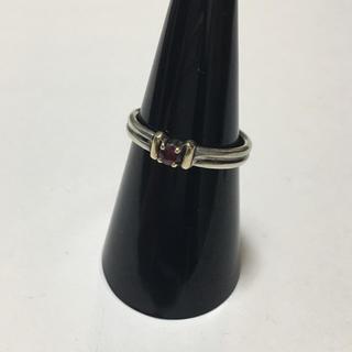 10K 925 コンビ リング指輪 天然石 ヴィンテージアンティーク 13号(リング(指輪))
