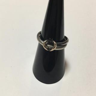 ヨンドシー(4℃)のK10 4°C silver 刻印 コンビリング 指輪 ハートデザイン 12号(リング(指輪))