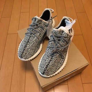 アディダス(adidas)のyeezy boost 350 1st 新品 supreme ボックスロゴ 登坂(スニーカー)