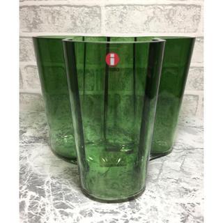イッタラ(iittala)の極希少 限定廃盤色 イッタラ アールトベース H120mm  1937グリーン(花瓶)