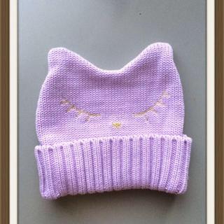 スリーフォータイム(ThreeFourTime)の眠りネコ ニットキャップ (ニット帽/ビーニー)