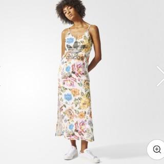 アディダス(adidas)の新品♡アディダスオリジナルス♡花柄マキシワンピース(ロングワンピース/マキシワンピース)