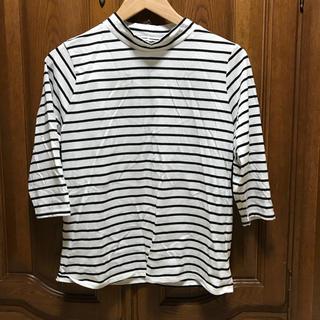 ジーユー(GU)のボーダートップス(Tシャツ(長袖/七分))