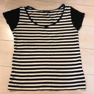 プーラフリーム(pour la frime)のボーダーTシャツ【美品】(Tシャツ(半袖/袖なし))