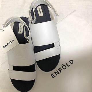 エンフォルド(ENFOLD)の♯02 2018SS marchéエンフォルド¥35,640 ホワイト×ネイビー(サンダル)