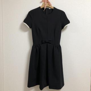 ミュウミュウ(miumiu)のmiumiu  ミュウミュウ  リトルブラックドレス ワンピース(ミニワンピース)