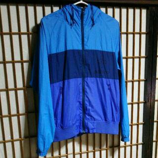 ADDICT ナイロンジャケット Mサイズ アディクト ストリート 青 ブルー