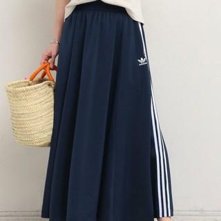 アディダス(adidas)の新品 18SS adidas originals スカート サイズM  ネイビー(ロングスカート)