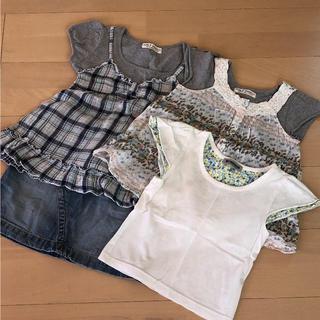 シマムラ(しまむら)のお得セット 女の子 4点セット(Tシャツ/カットソー)