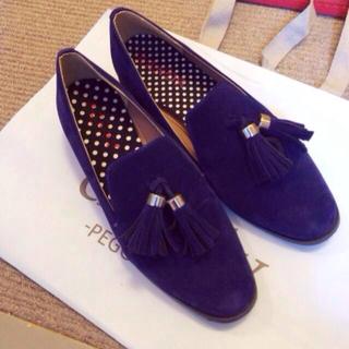 ランダ(RANDA)のRANDAネイビーオペラシューズ(ローファー/革靴)