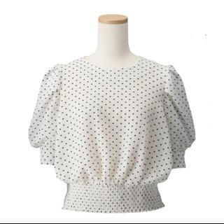 ジーユー(GU)のドットプリントブラウス(シャツ/ブラウス(半袖/袖なし))