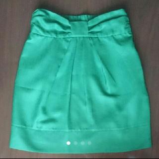ティアンエクート(TIENS ecoute)のグリーン膝丈タイトスカート(ひざ丈スカート)