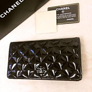 シャネル(CHANEL)のシャネル マトラッセ エナメル(財布)