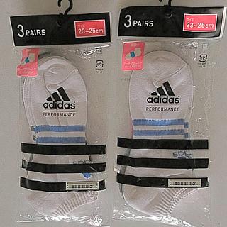 アディダス(adidas)のadidas アディダスレディースアンクルソックス 靴下3足入(ソックス)