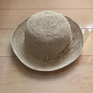 ムジルシリョウヒン(MUJI (無印良品))の無印良品 ラフィア畳めるツバ広キャペリンハット(麦わら帽子/ストローハット)