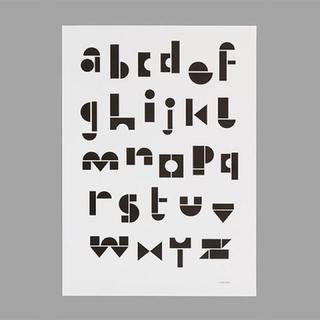 snug studio ポスター abc モノクロ 北欧 アルファベット(ポスターフレーム )