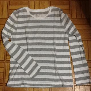 ムジルシリョウヒン(MUJI (無印良品))の無印良品 ボーダー 長袖 Tシャツ(Tシャツ/カットソー(七分/長袖))