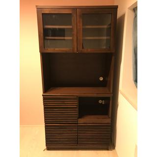 イデー(IDEE)の直接引き取り可能 アジアン エーフラット a.flat キッチンボード 食器棚 (キッチン収納)