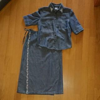 上着と巻きスカート