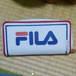 フィラ(FILA)のFILA トリコロール ラウンドファスナー男女兼用 ロングウォレット(長財布)