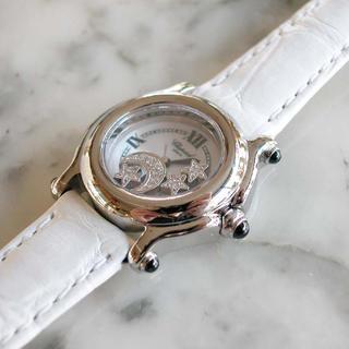 ショパール(Chopard)の美品✨Chopard ショパール ハッピースポーツ ピンクシェル 腕時計(腕時計)