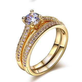 スワロフスキー 2点セット リング 指輪 プレゼント 送料無料 あすつく(リング(指輪))