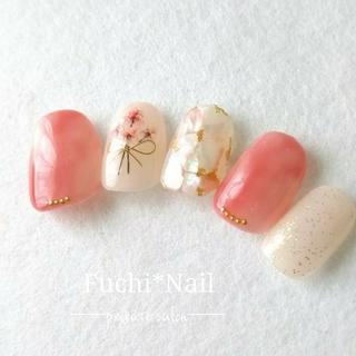 【再販】sakura pink 花束ネイル