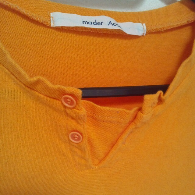 オレンジ色  *  長袖Tシャツ レディースのトップス(Tシャツ(長袖/七分))の商品写真