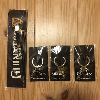 GUNNESS★ギネスビール非売品4点セット オリジナルキーホルダー、ストラップ(ノベルティグッズ)