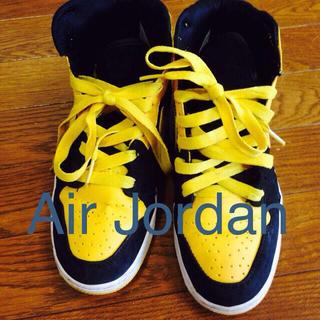 ナイキ(NIKE)のAIR JORDAN yellow(スニーカー)