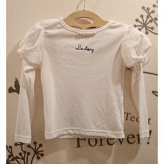 シマムラ(しまむら)のパフ袖 長袖カットソー 白 size110(Tシャツ/カットソー)