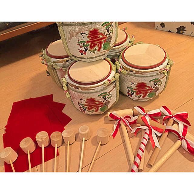 ミニ鏡開きセット 5個 結婚式♡菰樽の通販 by pico's shop|ラクマ
