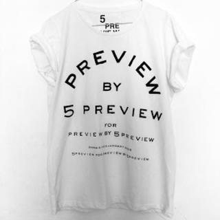 ルシェルブルー(LE CIEL BLEU)の5 PREVIEWファイブプレビュー白Tシャツ☆5プレビュー(Tシャツ(半袖/袖なし))