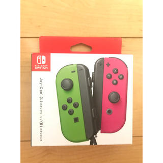 Nintendo Switch JOY-CON ネオンブルー/ 【未使用品】 (L) (R) ネオンレッド 【店舗印あり:保証書日付 2018年04月】