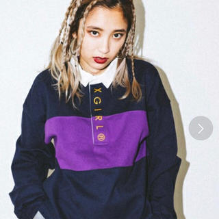 x-girl CROPPED RUGBY SHIRT