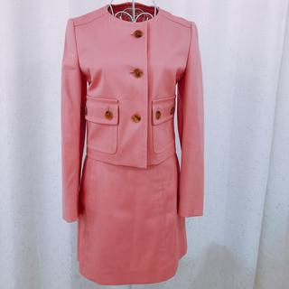 プラダ(PRADA)のプラダ PRADA ピンクセットアップジャケット&スカートスーツ 入学式(スーツ)