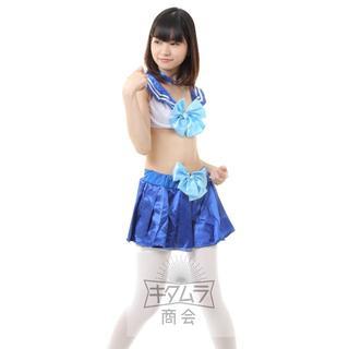美少女戦士 セーラームーン 風 なりきり ブラセット コスプレ 衣装 水着(ブラ&ショーツセット)