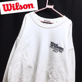 Wilson★胸ロゴ刺繍 スウェット トレーナー プルオーバー