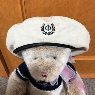 パメオポーズ(PAMEO POSE)のPAMEOPOSE ベレー帽 白 ホワイト(ハンチング/ベレー帽)