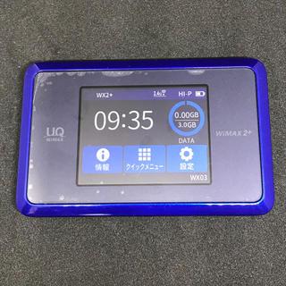 エヌイーシー(NEC)のWiMAX 2+ Wi-Fiルーター WX03 箱とクレードル付き 送料込み(PC周辺機器)