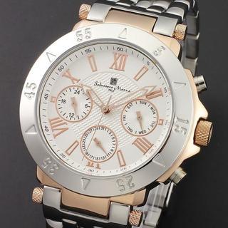 サルバトーレマーラ(Salvatore Marra)の送料無料☆サルバトーレマーラ メンズ腕時計 SM14118-PGWH(金属ベルト)