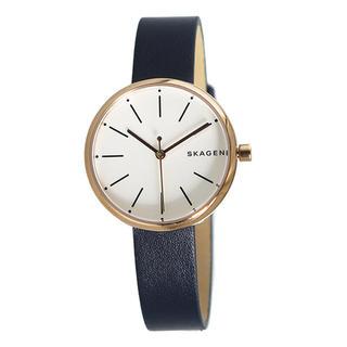 スカーゲン(SKAGEN)のスカーゲン  レディース腕時計 シグネチャー  ネイビーベルト 可愛い (腕時計)