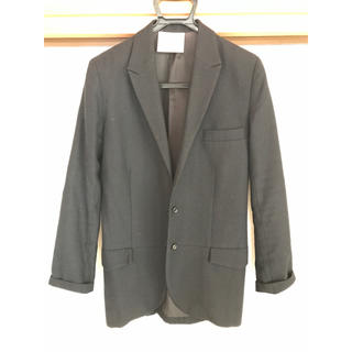 ジュンオカモト(JUN OKAMOTO)のJUNOKAMOTOウールジャケット 黒 M(テーラードジャケット)