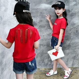 女の子 ハートなTシャツ n16ettx52(Tシャツ/カットソー)