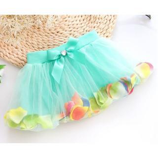 花びらチュールスカート nb1616ppq10(スカート)