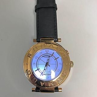 ロマゴデザイン(ROMAGO DESIGN)の値下げ❗️ロマゴ腕時計革ベルト(腕時計(デジタル))